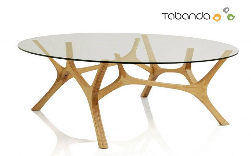 Table basse ovale bois pas cher