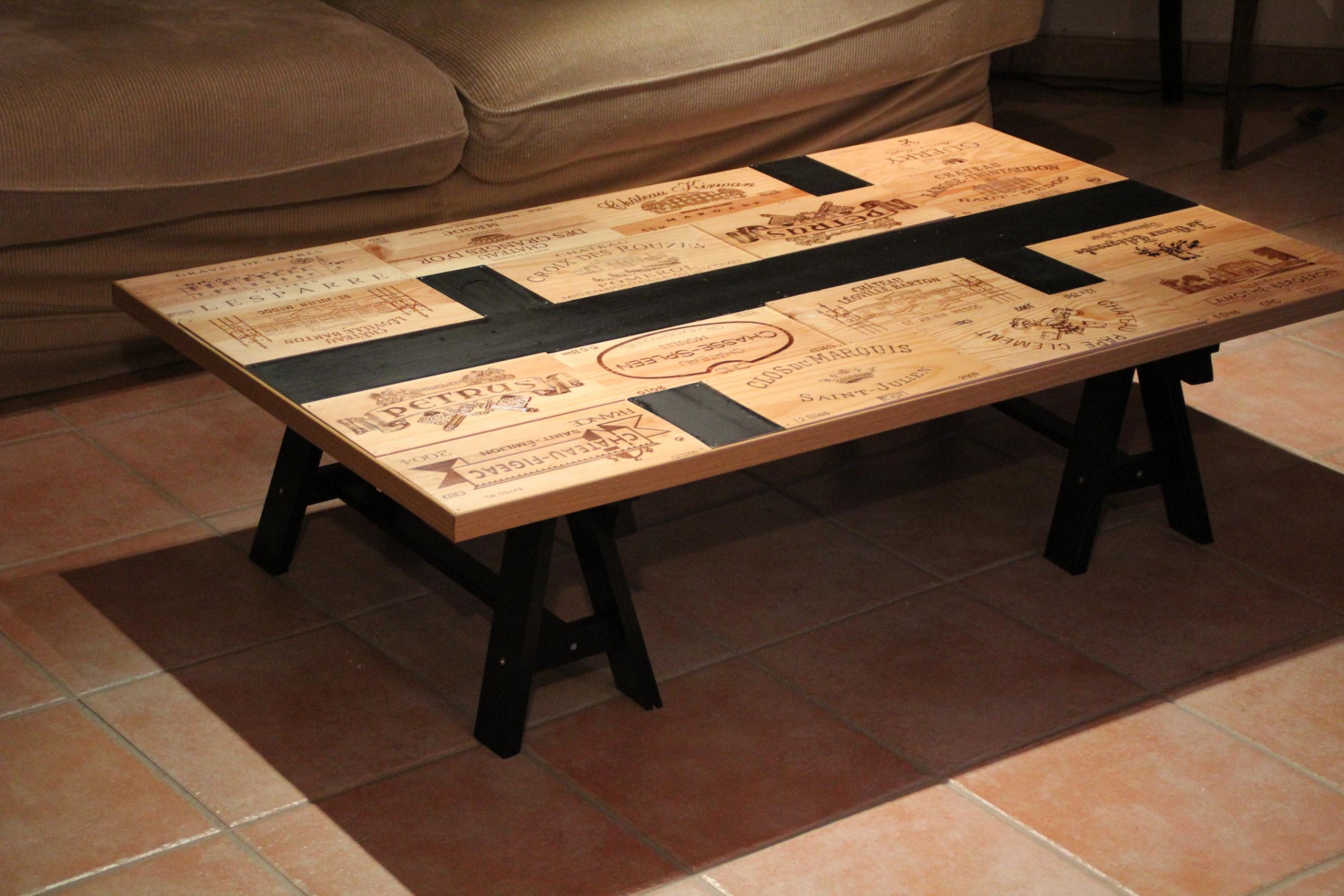 Creation table basse bois