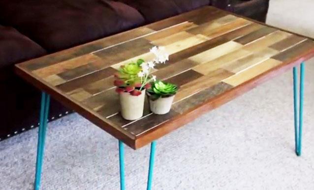 Table basse palette epingle