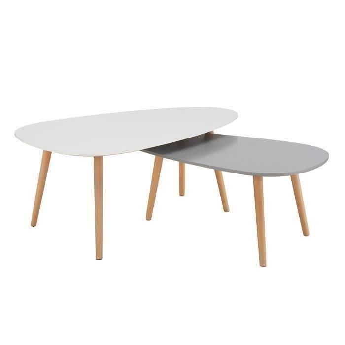 Table basse gigogne scandinave noire