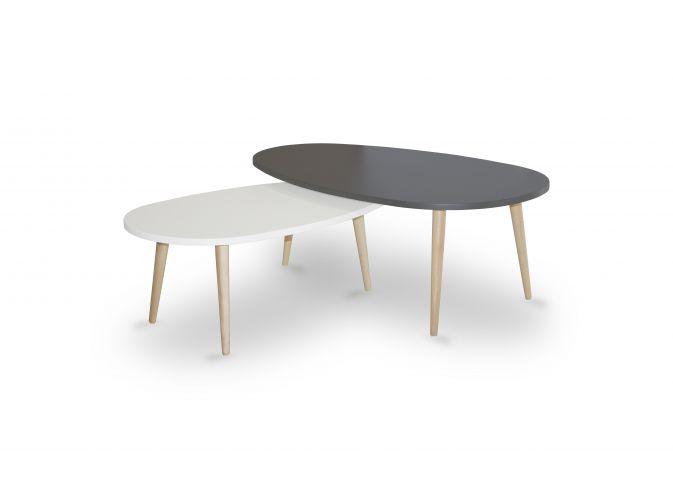 Table basse avec pieds en bois