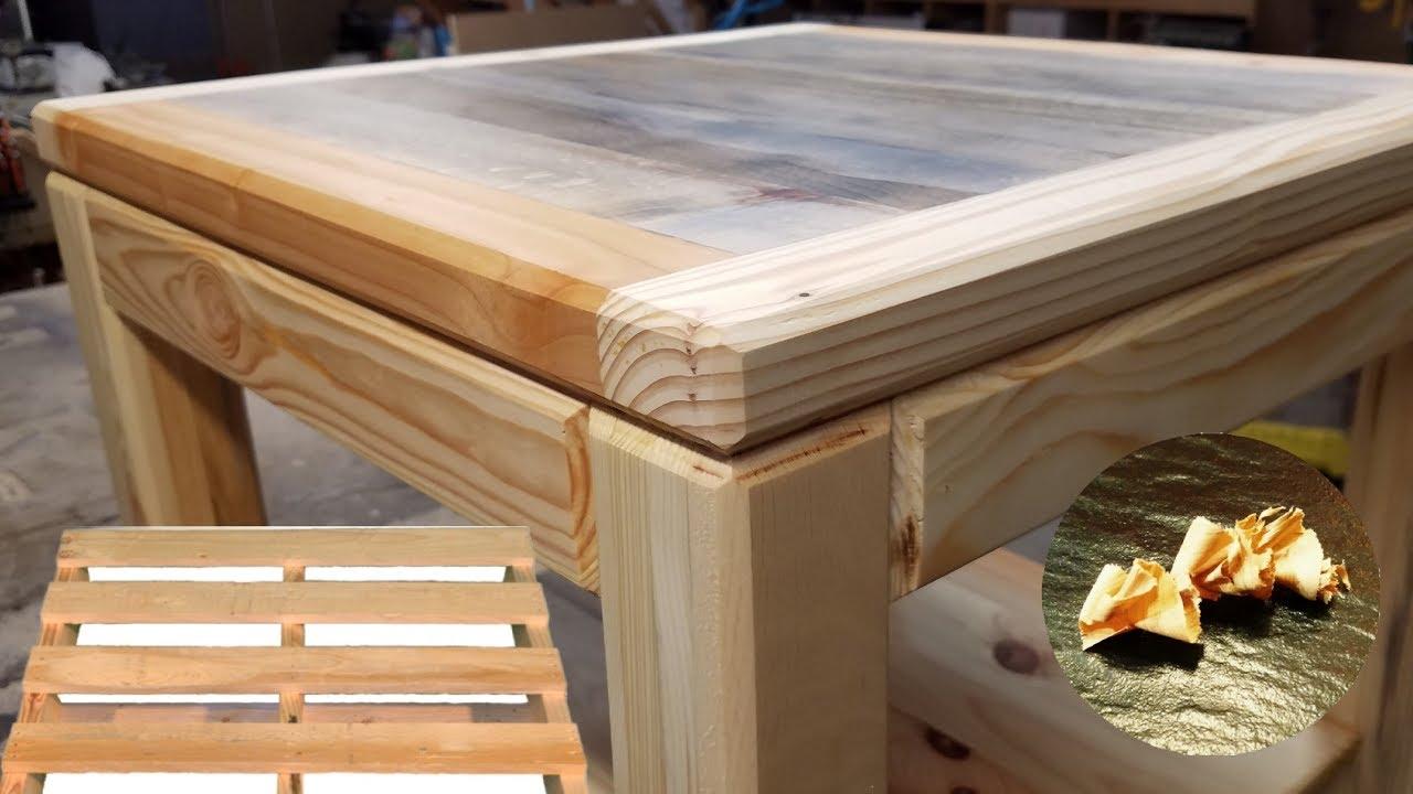 Construction table basse en bois