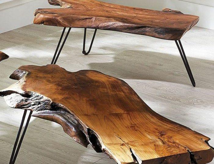 Planche bois table basse
