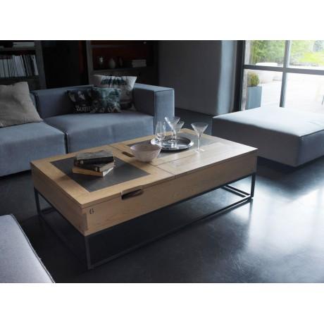 Table basse bar relevable plateau ceramique