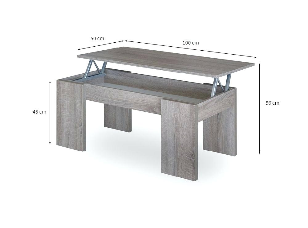 Table basse relevable avec parquet