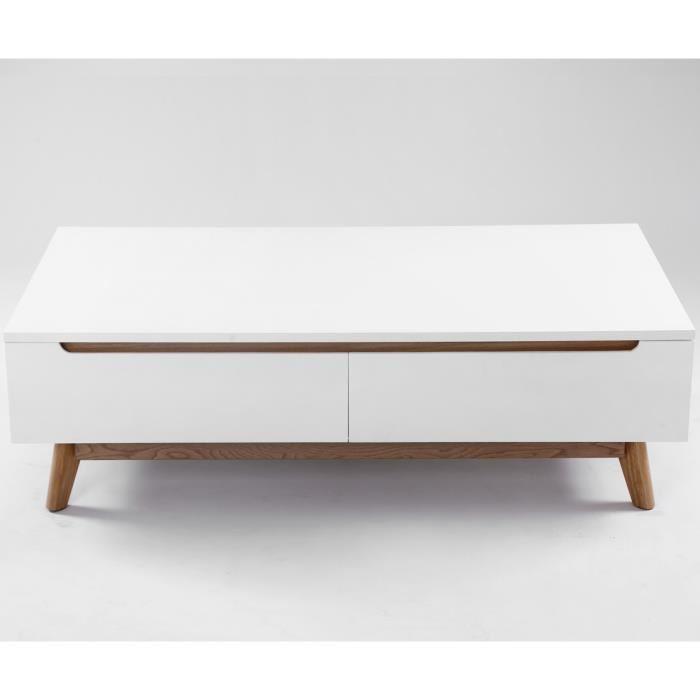 Table basse scandinave 120 cm