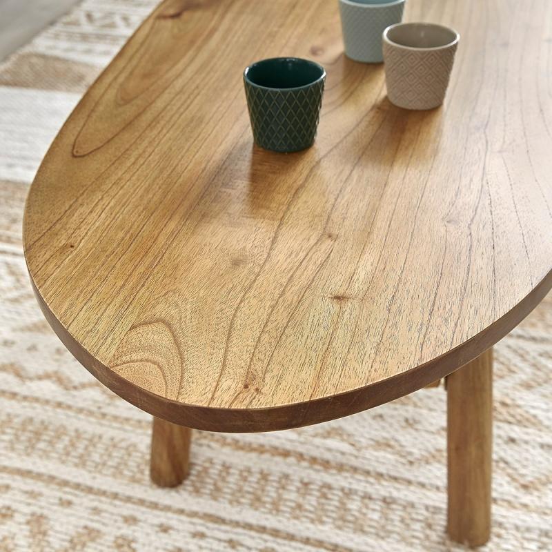 Table basse en bois de mindy 160 tilo