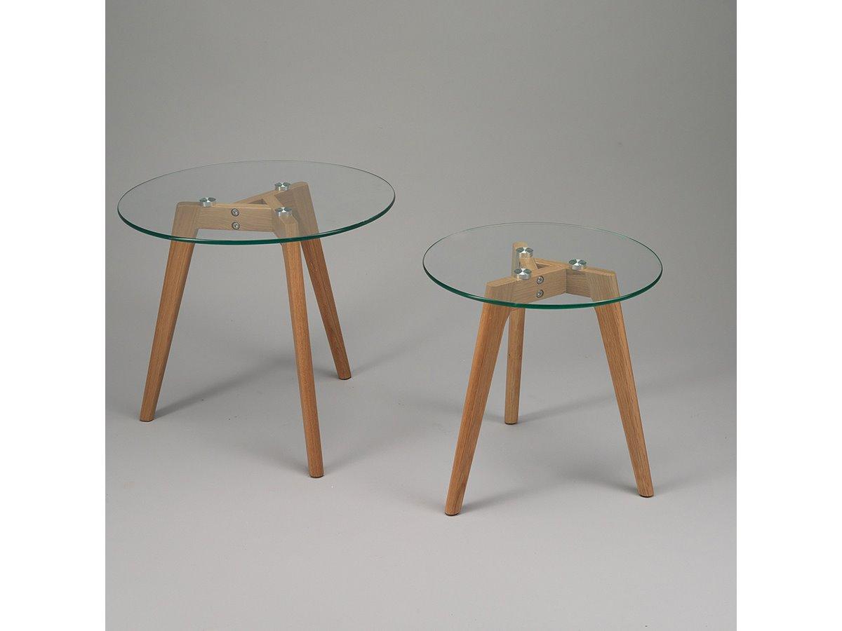 Table Basse Gigogne Scandinave Verre Emberizaone Fr
