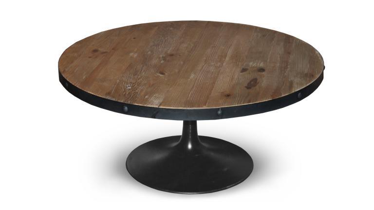 Table basse bois et metal rectangulaire