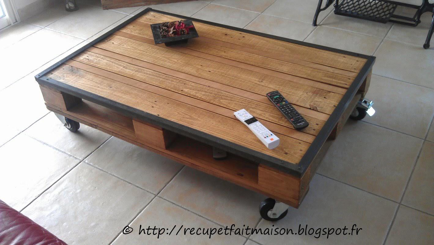 Table basse avec des palette