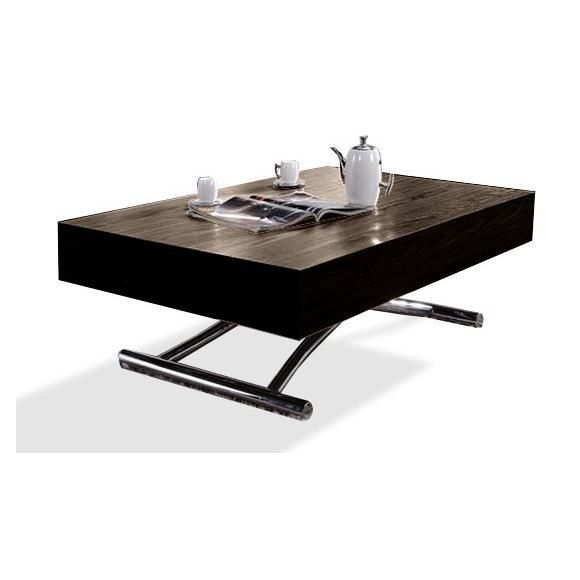 Table basse relevable extensible wood