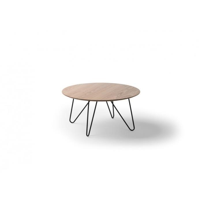 Table basse ronde pied en bois