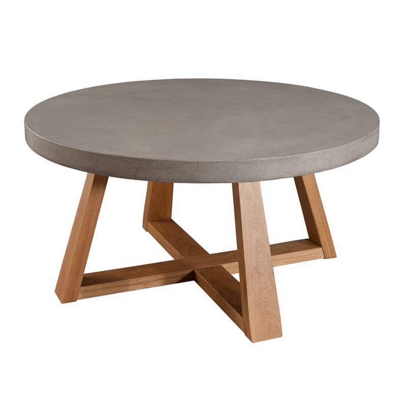 Table basse ronde ovale bois