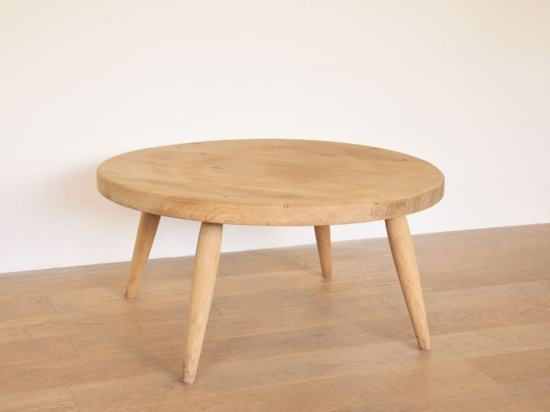 Table basse ronde vintage scandinave