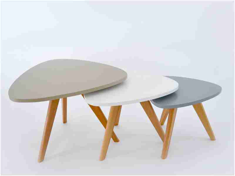Table basse style scandinave jaune