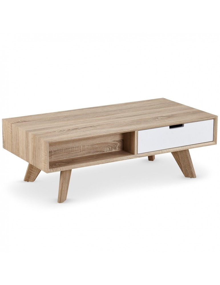 Table basse scandinave solal chêne clair