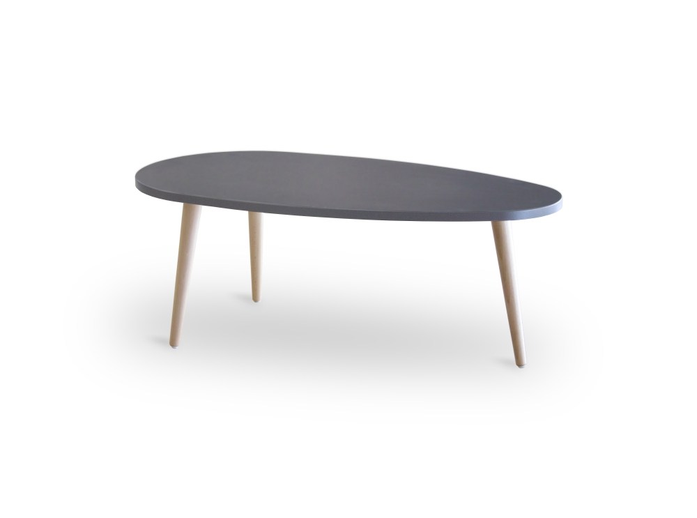Table basse scandinave pied noir