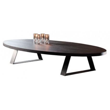 Table basse design bois ovale
