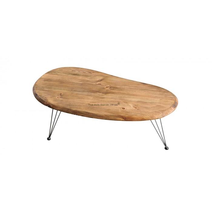 Table basse style industriel et bois