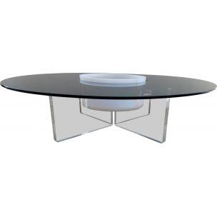 Table basse scandinave pied en fer