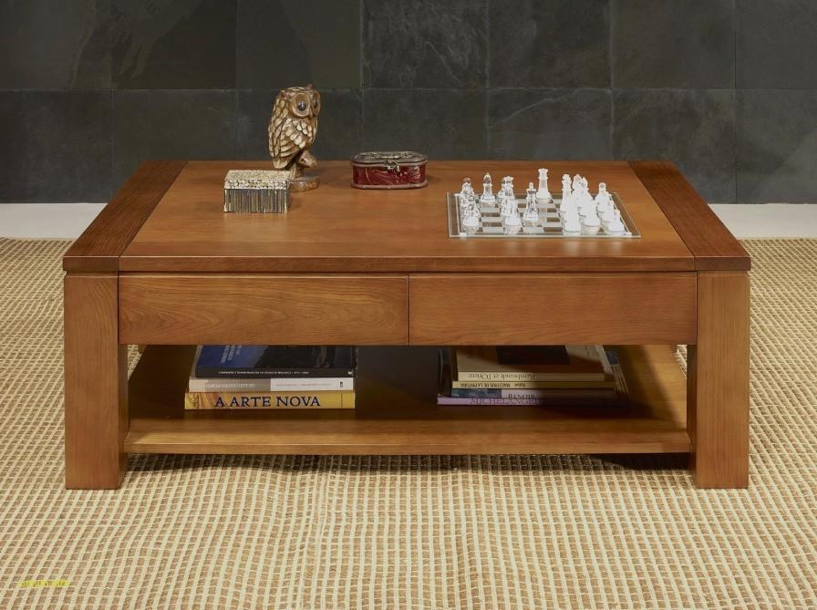 Table basse coffre bois brut