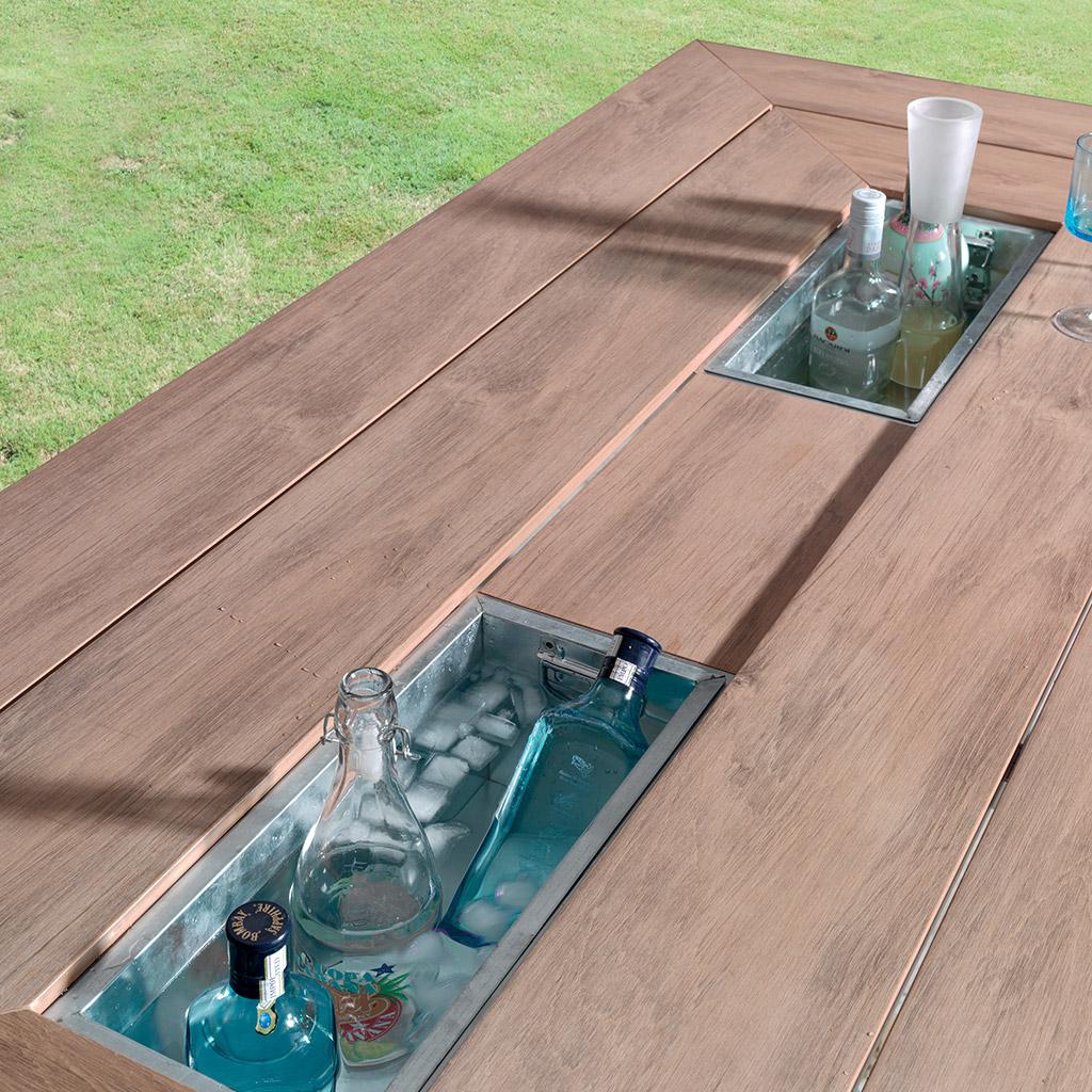 Table basse jardin cocktail scandinave