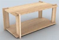 Patron table basse bois