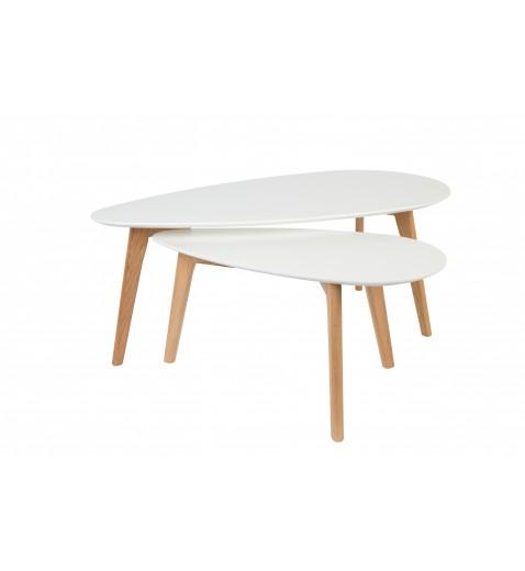 Table basse scandinave laque blanc