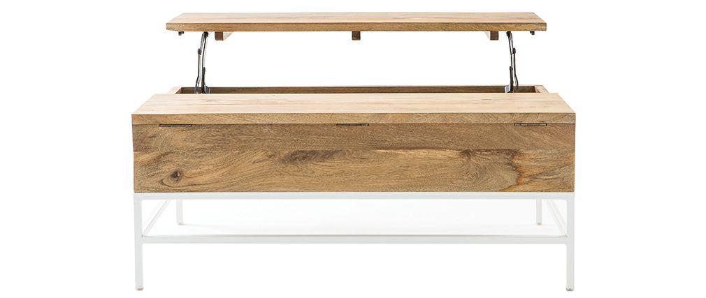 Table basse relevable métal