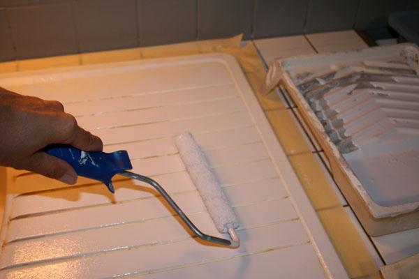 Peindre un evier en resine