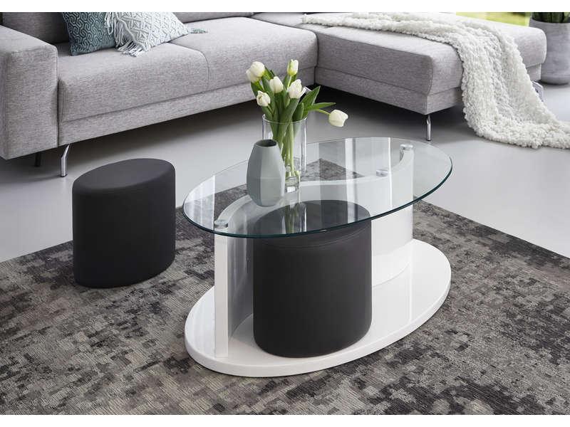 Table Basse Avec 2 Pouf Conforama Emberizaone Fr