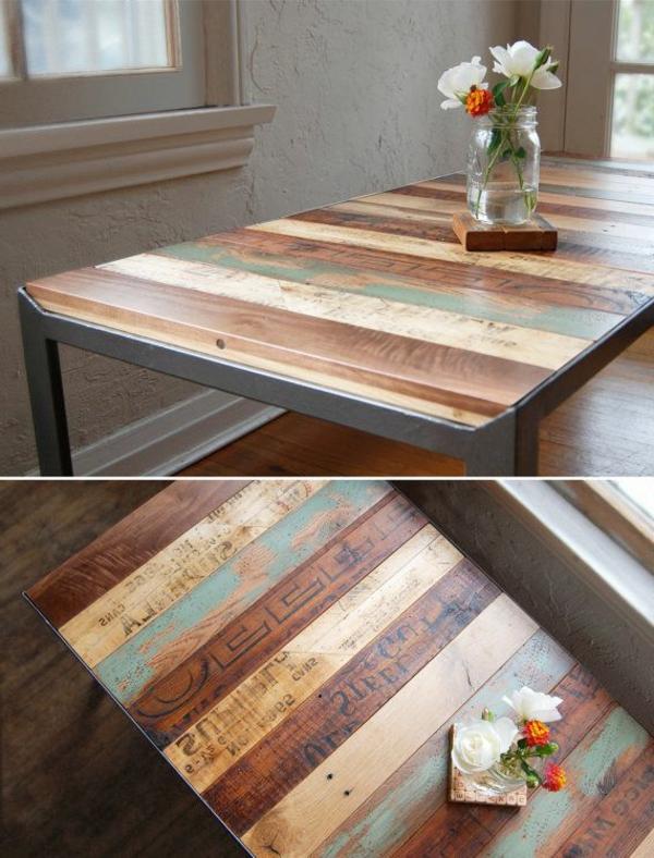 Remarquable Table basse palette ferraille - emberizaone.fr TZ-73
